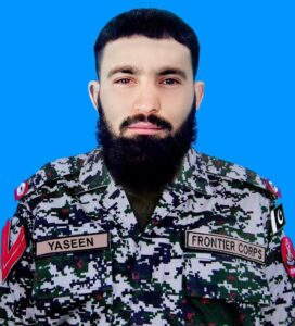 Naik Yaseen - One Frontier Corps (FC) soldier embraced martyrdom while seven further received injuries in an attack by terrorists in Mirali area of North Waziristan last night, the Inter-Services Public Relations (ISPR) said. In a statement on Thursday, the ISPR said that terrorists opened fire on a security forces' convoy in Mirali late last night. Resultantly, 34-year-old soldier Naik Yaseen, a resident of Malakand, embraced shahadat while seven soldiers got injured. The ISPR said that the security forces responded promptly. It further said that in the intense exchange of fire, two terrorists were killed while 10 suffered injuries.