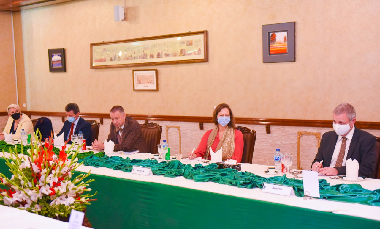 Foreign Minister Makhdoom Shah Mahmood Qureshi hosted a working luncheon for the EU Ambassadors