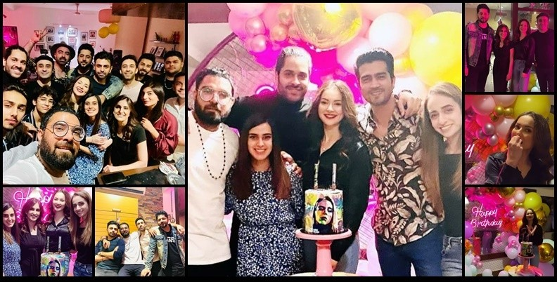 The super-gorgeous and talented Hania Amir has turned 24 and the celebration posts are still on the go. She has been sharing some adorable clicks and videos from her birthday bash with friends and we are loving every bit of it. This birthday party showed how much Hania's friends love her and be a part of her happiness. However, the sad part of this year's birthday bash was that Asim Azhar wasn't there and it confirms that the duo broke up. Well... here we have got a glimpse into Hania Amir's birthday party!  Hania Amir Celebrates 24th Birthday with Friends!  Check out these beautiful moments from Hania's birthday as she turns 24 and friends gather to make it special. Take a look!               The star-studded event made it so special for Hania as we can see famous celebrities gracing the birthday party. Wajahat Rauf and family, Shahzad Sheikh and wife, Yasir and Iqra, Imran Ashraf, Farhan Saeed, Daniyal Zafar and many others had great fun at Hania's birthday.  About Hania  Hania Aamir is a Pakistani film and television actress, model and singer. While studying, Hania made several dubsmashs and uploaded them on her social media account. These videos got the attention of the producer Imran Kazmi, who later cast her in a supporting role in the blockbuster romantic comedy Janaan.  Her subsequent appearance in the Sunsilk commercial made her one of the most sought-out media personalities in Pakistan. Hania Aamir rose to prominence with the role of a beauty-obsessed unfaithful wife in the romantic television series Titli (2017), and a girl next door in the melodrama Visaal (2018). She achieved further success by featuring in the action-comedy Na Maloom Afraad 2 (2017), and Parwaaz Hai Junoon (2018). She drew praise for her performance in the 2019 romantic television series Anaa. In addition, Hania's latest project was Ishqiya and the lead role of Sanam in HUM TV's Dil Ruba.