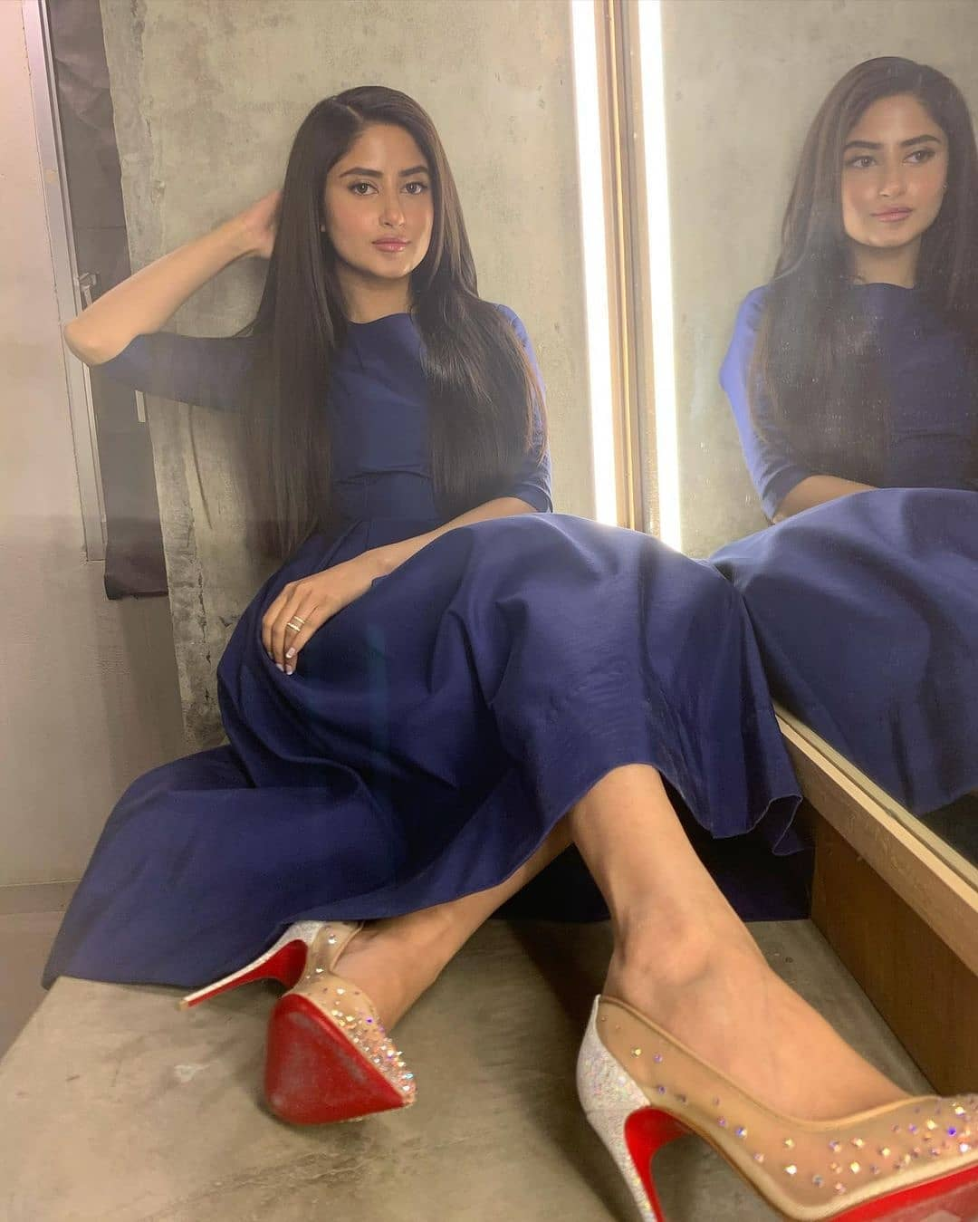 Sajal Aly Flaunts Exquisite Looks In Glamorous Blue Dress - Pictures!