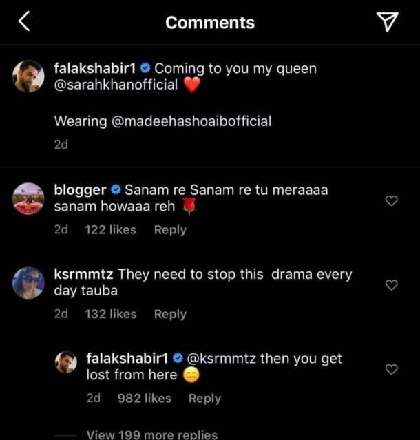 Falak Shabir's Savage Reply