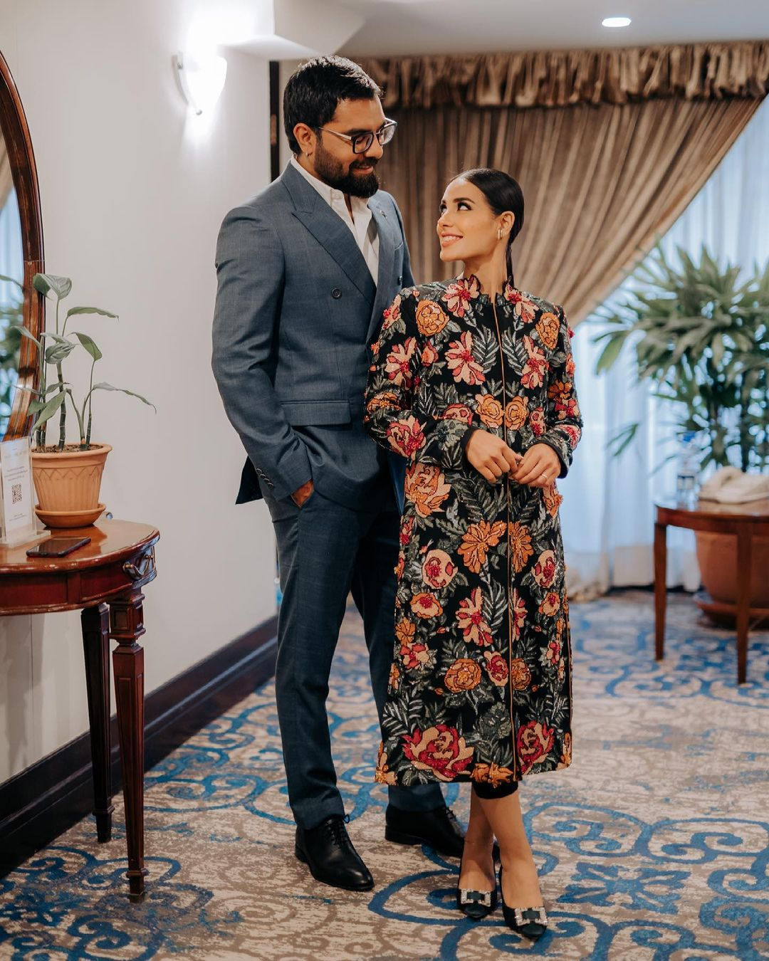 The couple that always remains in the limelight, Iqra Aziz and Yasir Hussain make a beautiful couple together while sharing an awesome chemistry. They know how to make every moment special even out of the most normal days. The way Yasir loves Iqra and the expressions that she gets on her face following this affection is something worth seeing. We know that Iqra is a brilliant actress and she has done marvelous job in each of her projects. These days, she is playing the role of Ameera in the drama serial Raqeeb Se that goes on air on HUM TV. On the other hand, Yasir is also a very talented actor and host who is known well for the controversies he becomes a part of on social media. Despite the fact people criticize him for being so blunt, he has got a huge fan following. Well… here we have got some of the latest yet the cutest clicks of Iqra and Yasir giving out romantic vibes. Check out these pictures!  Iqra Aziz and Yasir Hussain Give Out Romantic Vibes In These Cute Clicks  Iqra and Yasir are incomplete without each other and their posts on social media are proof of that. They have unconditional love between them and that's the reason their bond stands out as a celeb couple. Here we have got some of the most adorable clicks of the couple in which they are giving out romantic vibes. Take a look at these pictures!     From formal occasions to the casual routine clicks at home, Iqra and Yasir have been setting the perfect couple goals. In the recent click, Iqra's floral attire is grabbing our attention instantly as she flaunts grace along with her husband. Moreover, they make sure that whatever they wear, makes them look exceptional specifically when it comes to gatherings.  So, which one of these looks do you like the most of Iqra Aziz and Yasir Hussain? Don't forget to share your valuable opinion with us!