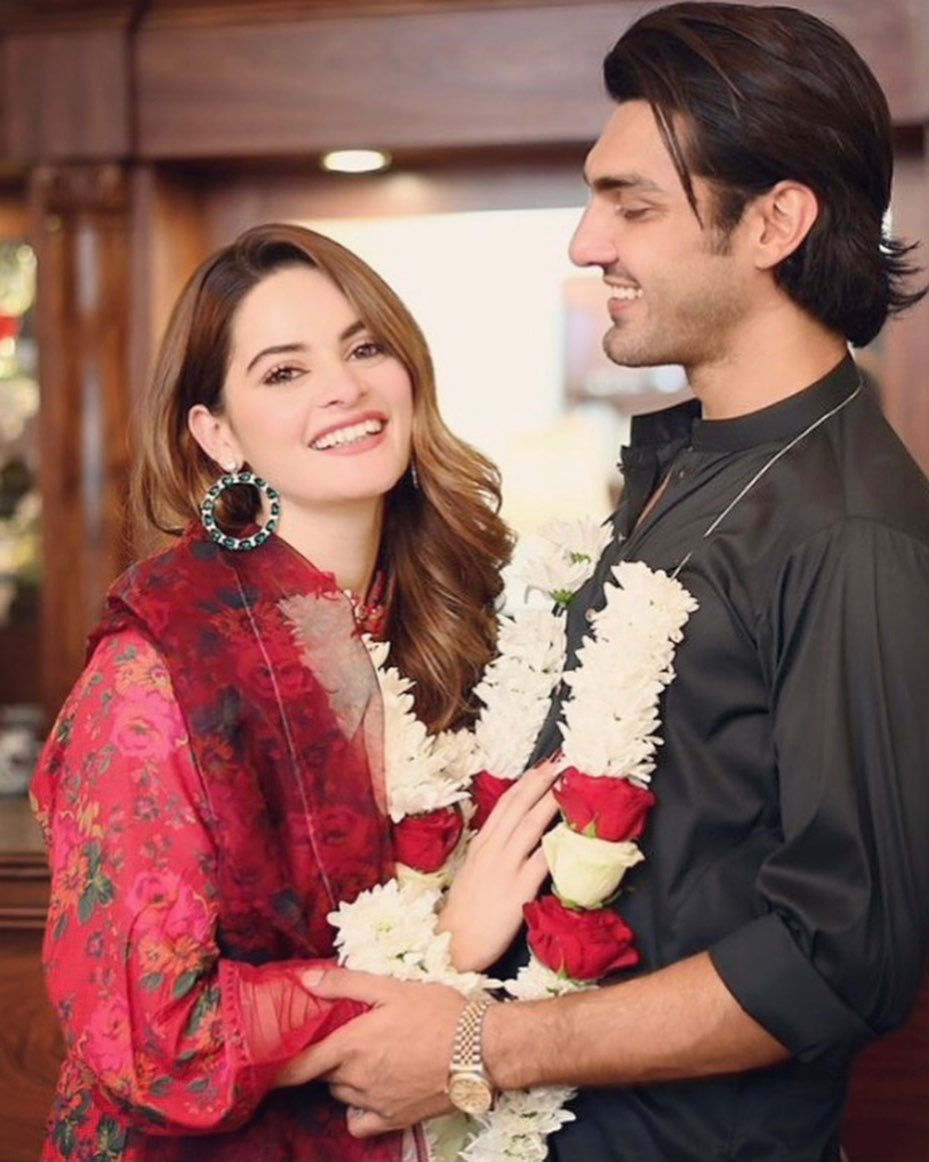 Minal Khan and Ahsan Mohsin Ikram Announce 'Baat Pakki' - Pictures!