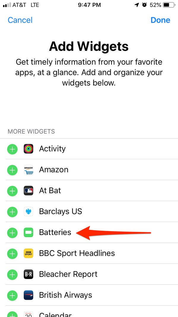 How to check AirPods battery on iPhone