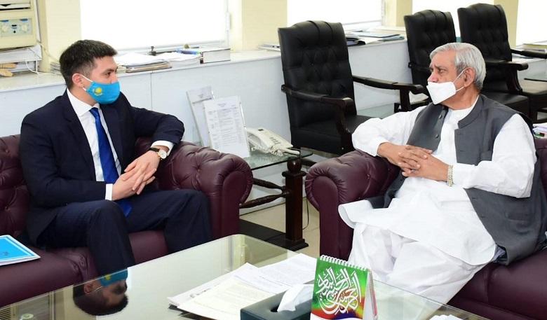 Kazakh envoy invites Fakhar Imam to attend KazAgro/KazFarm-2021