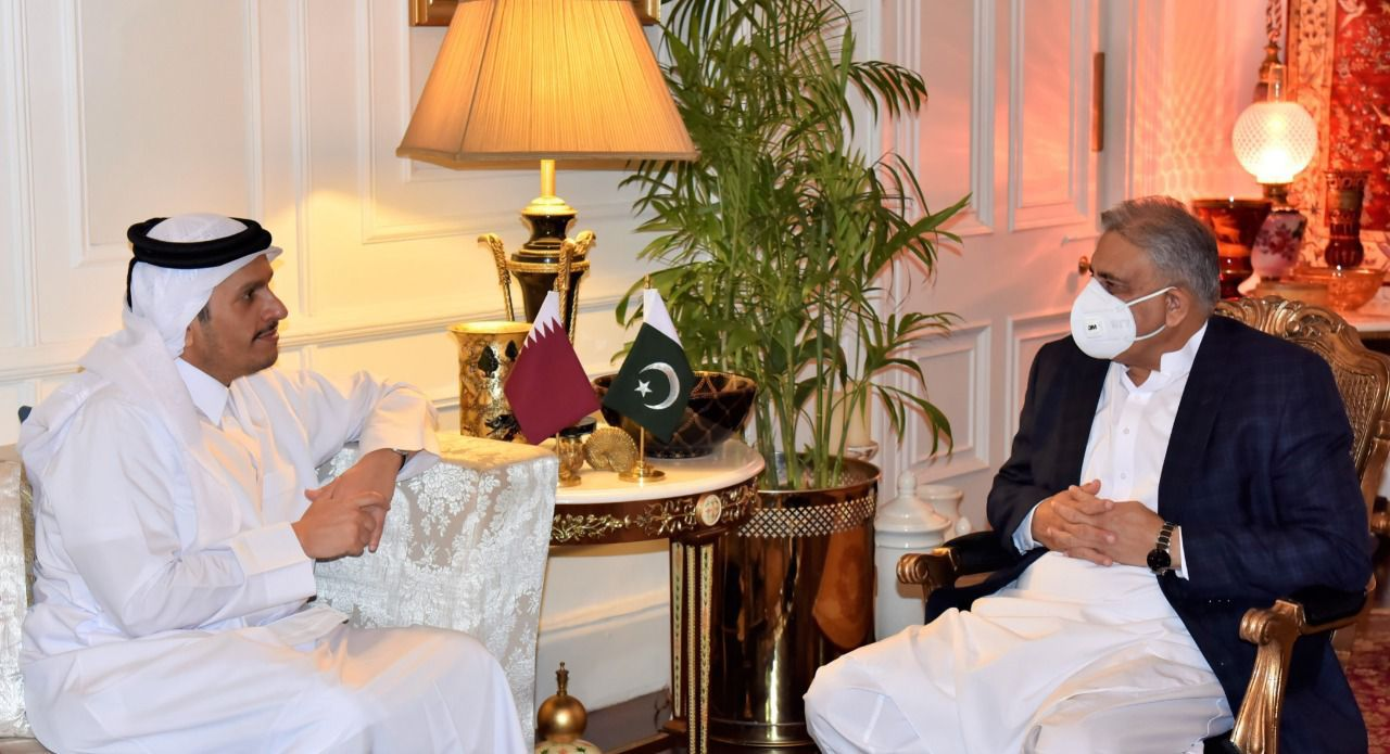 Sheikh Mohammed bin Abdulrahman bin Jassim Al Thani, Deputy Prime Minister and Minister of Foreign Affairs of the state of Qatar called on General Qamar Javed Bajwa